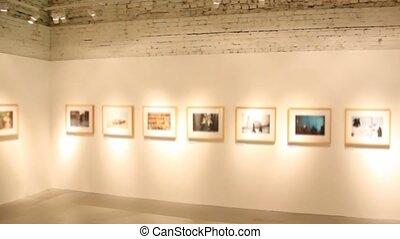 afbeeldingen, kunst, tentoonstelling, zaal, vaag