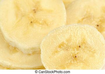 afgesnijdenene, close-up, banaan