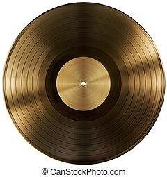 af)knippen, goud, vrijstaand, registreren, schijf, vinyl, included, steegjes, of
