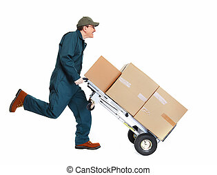 aflevering, postman., rennende