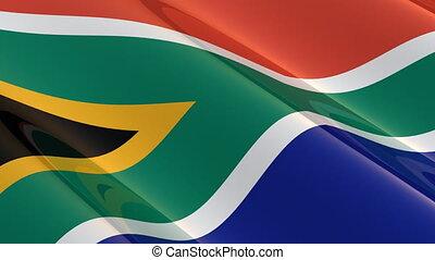afrika, seamless, zuiden, vlag