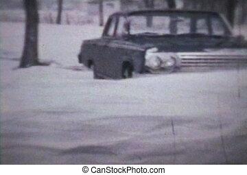 afwijkingen, winter, (1963, -, sneeuw, vintage)
