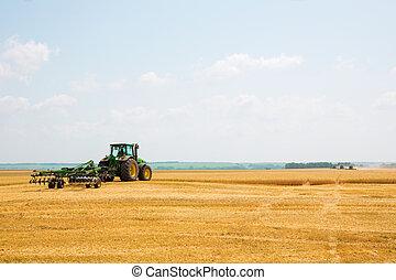 akker, bebouwer, tractor