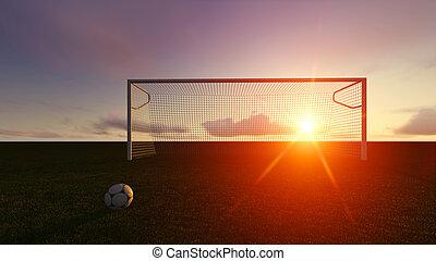akker, de voetbal van het voetbal, doel