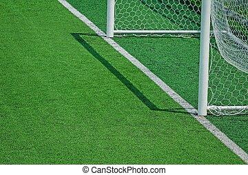 akker, de voetbal van het voetbal, kunstmatige turf