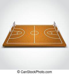 akker, duidelijk, basketbal