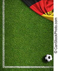 akker, vlag, bal, duitsland, voetbal
