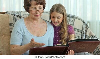 album, foto, grandma's