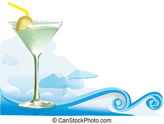 alcohol, cocktail, groene