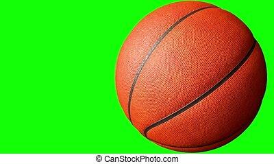 alfa, animatie, 3d, vertolking, basketbal, 4k, scherm, groene, het spinnen, bal, channel.