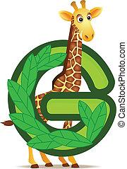 alfabet, giraffe, g