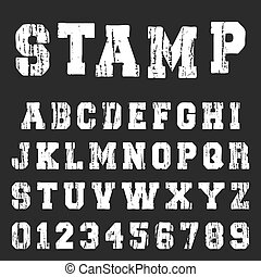 alfabet, lettertype, oud, mal, textured