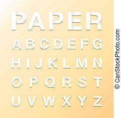 alfabet, papier, tekst