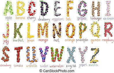 alfabet, school, vector