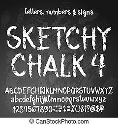 alfabet, sketchy, engelse