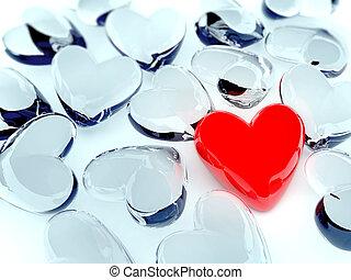 alleen, hart