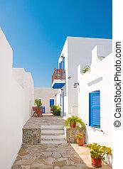 alleyway, sifnos, kleurrijke, griekenland