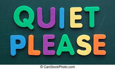 alstublieft, stille