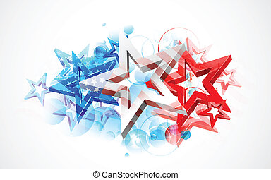 amerikaan, abstract, vlag, achtergrond