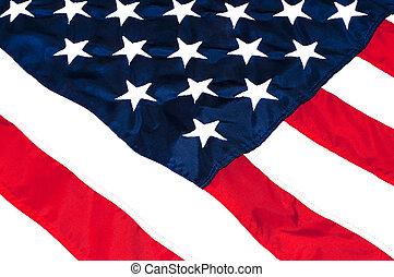 amerikaan, closeup, vlag