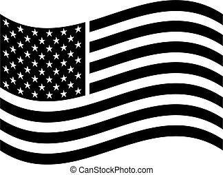 amerikaan, kunst, vlag, klem