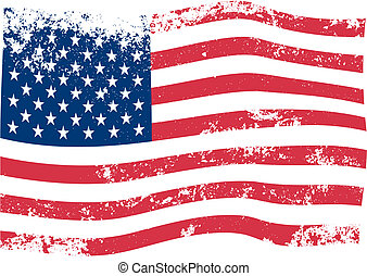 amerikaan, vector, vlag