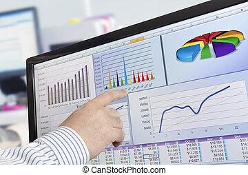 analyzing, computer gegevens