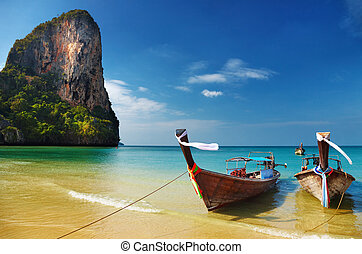 andaman, tropische , zee, strand, thailand