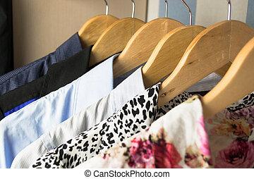anders, hangers, kleren