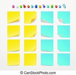 anders, kleur, collection., papier, mal, tekst, stickers