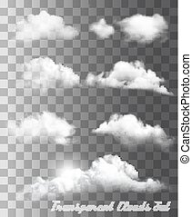 anders, set, transparant, vector., clouds.