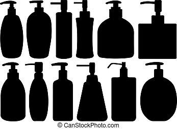 anders, set, zeepen, vloeistof