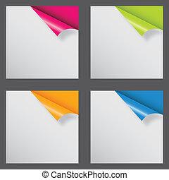 anders, text., illustratie, vector, plek, papieren, hoek, jouw