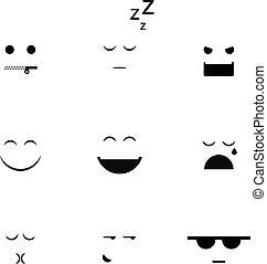 anders, vector, verzameling, clipart, emoji