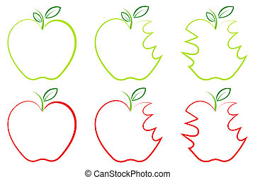 anders, vorm, appel