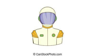 animatie, pictogram, ruimtevaarder