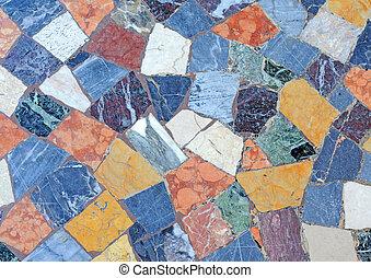 antieke , anders, onregelmatig, vloer, model, abstract, rome, achtergrond, stichten, sorts, kleurrijke, marmer, mozaïek