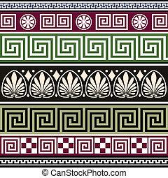 antieke , griekse , set, versieringen