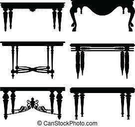 antieke , tafel, oud, classieke