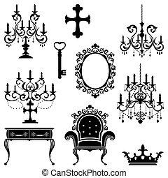 antieke , vastgesteld ontwerp, element