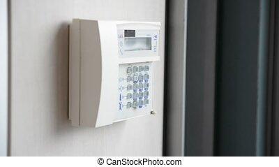 apparaat, hand, anti-theft, waarschuwing, vatting