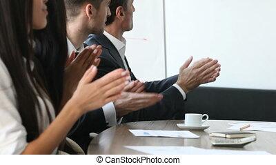 applauding, meeti, zakenlui