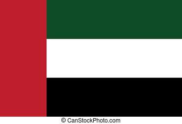 arabier, vlag, verenigd, emiraten