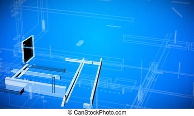 architecturale aantrekkingen, bouwschets