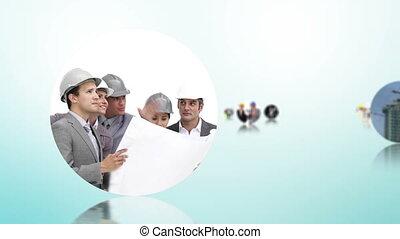 architectuur, bouwsector, monta