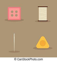 artesal, voorwerpen, naaiwerk