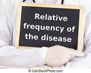 arts, information:, ziekte, optredens, familielid, frequentie