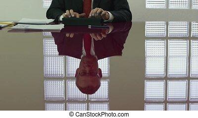 assistent, directeur, kantoor