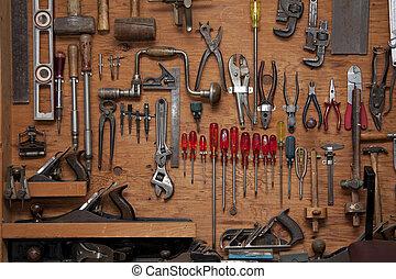 assortiment, gereedschap