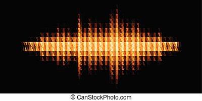 audio, muziek, glanzend, geluid, of, filter, driehoekig, golfvorm